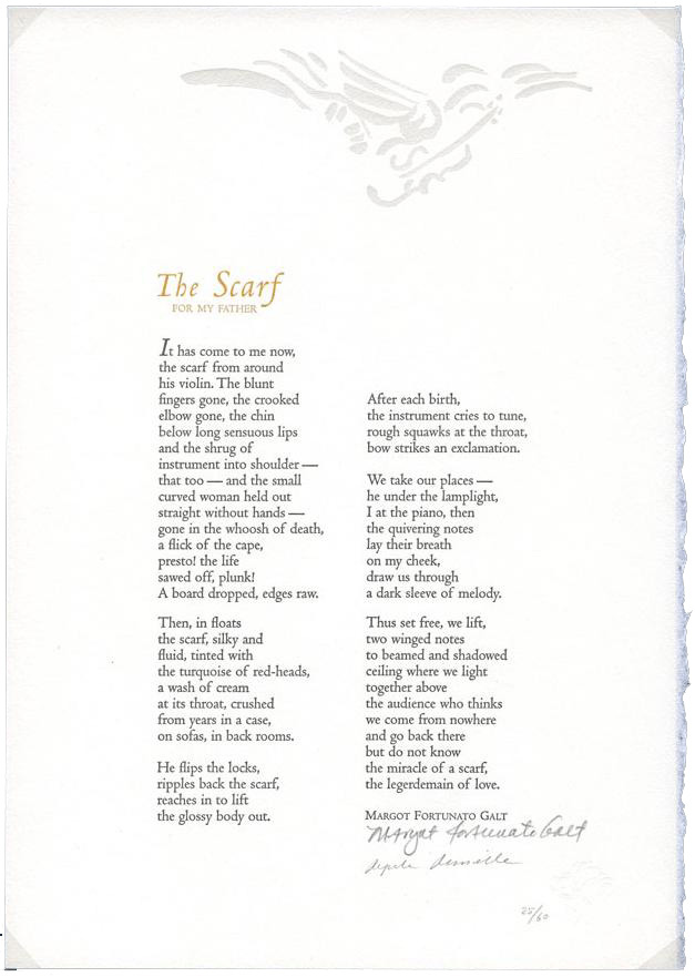 """Scarf"" was also published as a broadside poem by the Laurel Poetry Collective"
